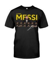 Lionel Messi 6 Golden Balls signature shirt Premium Fit Mens Tee front