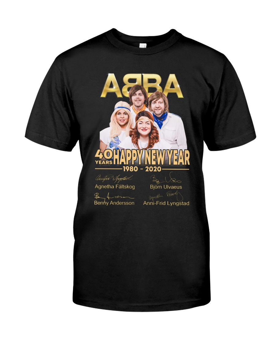 ABBA 40th years happy new year signatures shirt Premium Fit Mens Tee