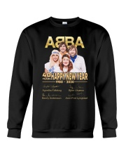 ABBA 40th years happy new year signatures shirt Crewneck Sweatshirt thumbnail