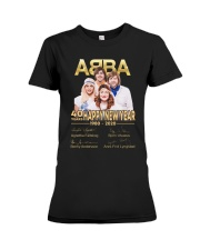 ABBA 40th years happy new year signatures shirt Premium Fit Ladies Tee thumbnail