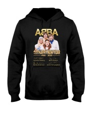 ABBA 40th years happy new year signatures shirt Hooded Sweatshirt thumbnail