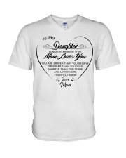 To my daughter always remember that mom loves you  V-Neck T-Shirt thumbnail