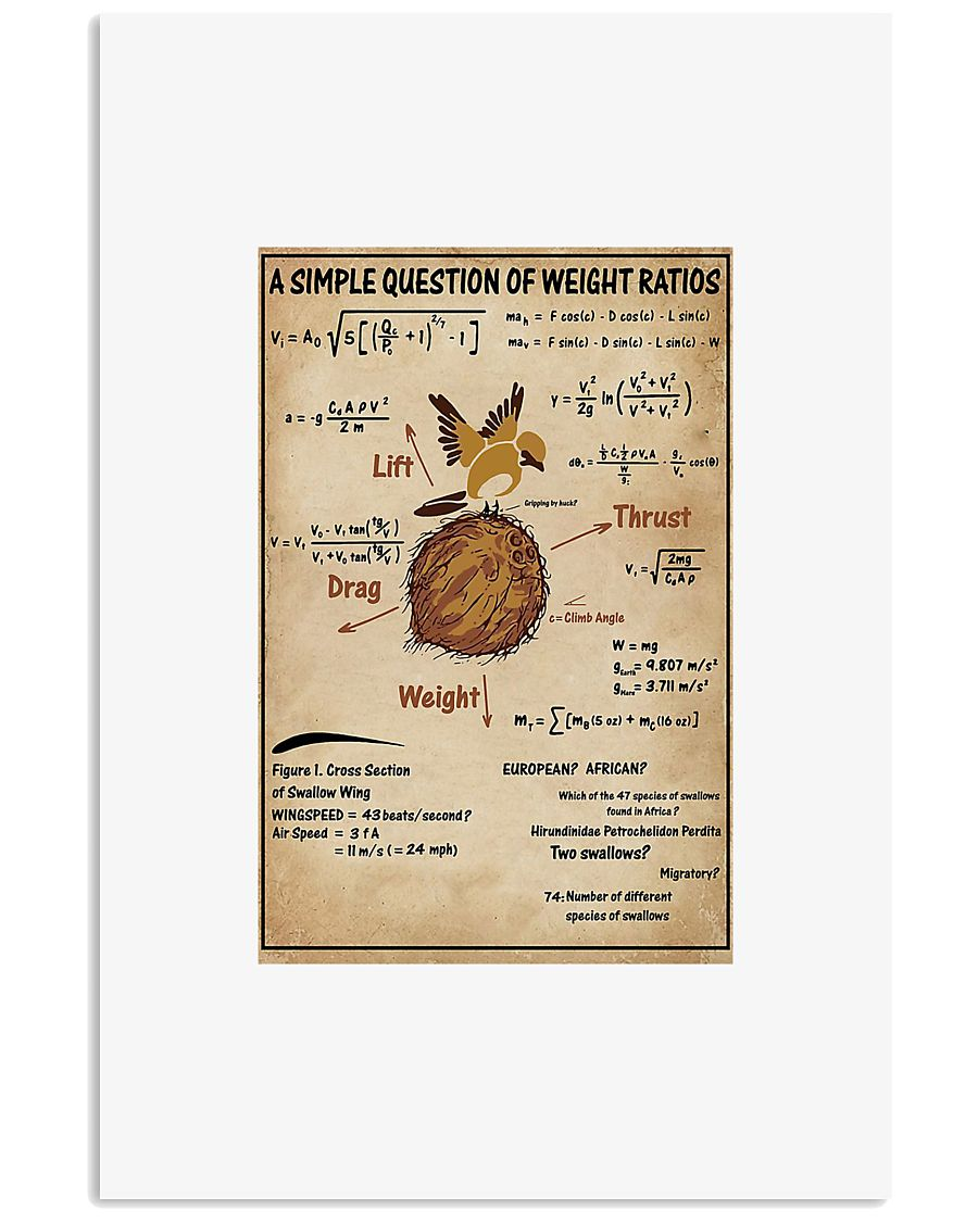 A simple question of weight ratios poster 24x36 Poster