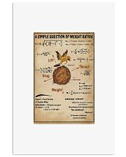 A simple question of weight ratios poster 24x36 Poster front