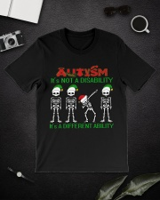 Skeleton autism is not a disability it's a differe Premium Fit Mens Tee lifestyle-mens-crewneck-front-16