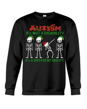 Skeleton autism is not a disability it's a differe Crewneck Sweatshirt thumbnail