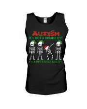 Skeleton autism is not a disability it's a differe Unisex Tank thumbnail