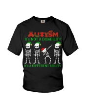 Skeleton autism is not a disability it's a differe Youth T-Shirt thumbnail
