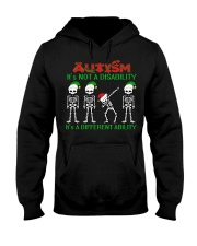 Skeleton autism is not a disability it's a differe Hooded Sweatshirt thumbnail