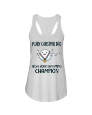Merry Christmas dad from your swimming champion sh Ladies Flowy Tank thumbnail