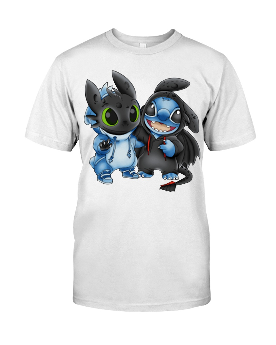 Stitch and Toothless stool