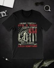 I always catch something Classic T-Shirt lifestyle-mens-crewneck-front-16