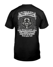 The price of being Wolf is Loneliness Classic T-Shirt back