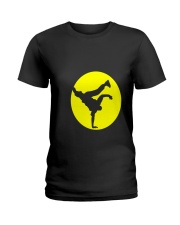 Breakdancing Bboy Spotlight T Shirt Hiphop Dance Y Ladies T-Shirt thumbnail