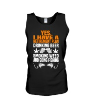 Plan Drink Beer Smoke Weed And Going Fishing Unisex Tank thumbnail
