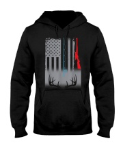 Fishing Rod Hunting Rifle American Flag T-Shirt Hooded Sweatshirt thumbnail