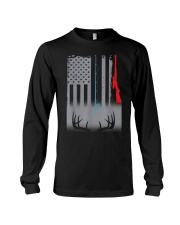 Fishing Rod Hunting Rifle American Flag T-Shirt Long Sleeve Tee thumbnail