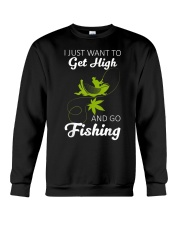 Get High And Go Fishing Funny Fishing Crewneck Sweatshirt thumbnail