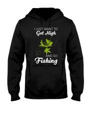 Get High And Go Fishing Funny Fishing Hooded Sweatshirt thumbnail