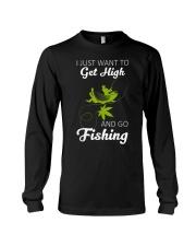 Get High And Go Fishing Funny Fishing Long Sleeve Tee thumbnail