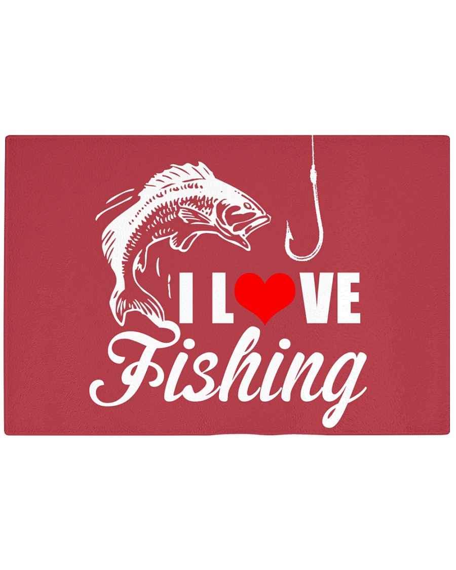 I LOVE FISHING Rectangle Cutting Board