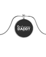 AWESOME DADDY Metallic Circle Necklace thumbnail