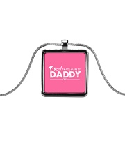 AWESOME DADDY Metallic Rectangle Necklace thumbnail