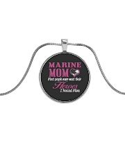 MARINE MOM Metallic Circle Necklace thumbnail