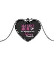 MARINE MOM Metallic Heart Necklace thumbnail