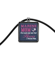 MARINE MOM Cord Rectangle Necklace thumbnail