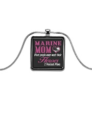 MARINE MOM Metallic Rectangle Necklace thumbnail
