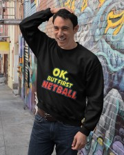Gifts ideas for netball lovers Netball players Crewneck Sweatshirt lifestyle-unisex-sweatshirt-front-4