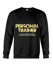 Personal trainer t shirt designs Workout clothes Crewneck Sweatshirt front