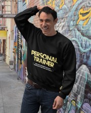 Personal trainer t shirt designs Workout clothes Crewneck Sweatshirt lifestyle-unisex-sweatshirt-front-4