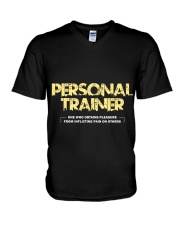 Personal trainer t shirt designs Workout clothes V-Neck T-Shirt thumbnail