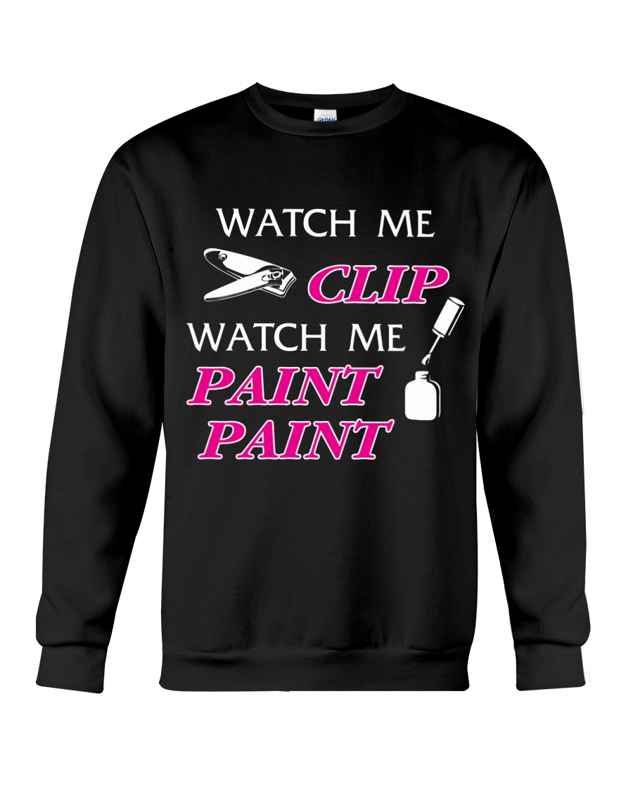 Funny cute manicure gifts Manicurist apparel Crewneck Sweatshirt