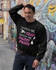Funny cute manicure gifts Manicurist apparel Crewneck Sweatshirt lifestyle-unisex-sweatshirt-front-4