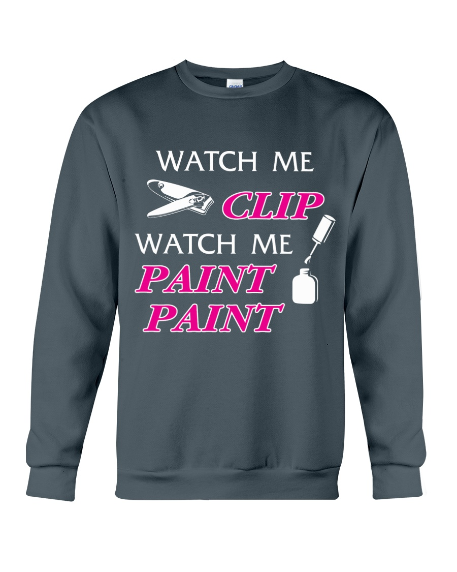Funny cute manicure gifts Manicurist apparel Crewneck Sweatshirt