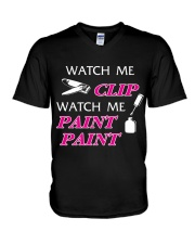Funny cute manicure gifts Manicurist apparel V-Neck T-Shirt thumbnail