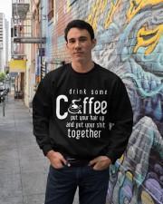 Funny Gift For Coffee Lovers Crewneck Sweatshirt lifestyle-unisex-sweatshirt-front-2