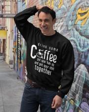 Funny Gift For Coffee Lovers Crewneck Sweatshirt lifestyle-unisex-sweatshirt-front-4