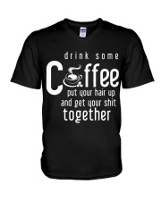 Funny Gift For Coffee Lovers V-Neck T-Shirt thumbnail