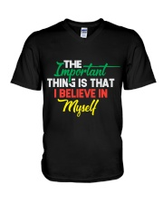 Believe In Myself T Shirt Funny sayings gifts tee V-Neck T-Shirt thumbnail
