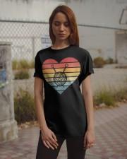 Retro Sunset Yarn Funny Knitter Classic T-Shirt apparel-classic-tshirt-lifestyle-18