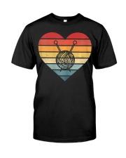 Retro Sunset Yarn Funny Knitter Classic T-Shirt front