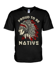 Proud to be native V-Neck T-Shirt tile