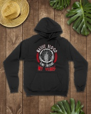 Native Blood Runs Through My Veins Hooded Sweatshirt lifestyle-unisex-hoodie-front-7