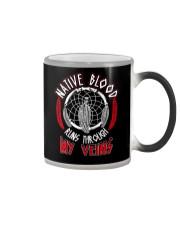 Native Blood Runs Through My Veins Color Changing Mug thumbnail