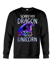 Sorry My Dragon Ate Your Unicorn Crewneck Sweatshirt thumbnail
