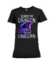 Sorry My Dragon Ate Your Unicorn Premium Fit Ladies Tee thumbnail